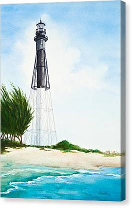 Hillsboro Point Inlet Florida Lighthouse Canvas Print by Michelle Wiarda