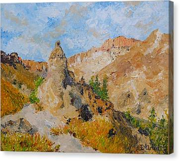 Hillside Church In Cappadocia Canvas Print