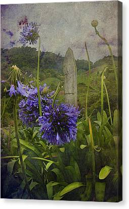 Canvas Print featuring the photograph Hillside Flowers by Kandy Hurley