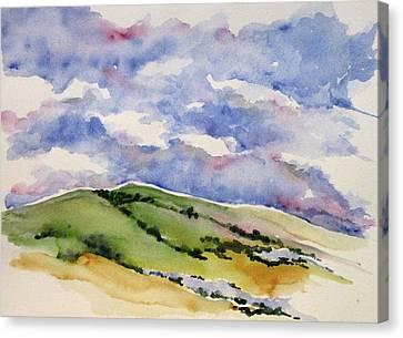 Hillside In Bloom Canvas Print by Renee Goularte