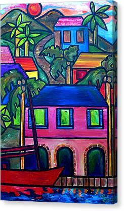 Virgin Islands Canvas Print - Hillside In St. John by Patti Schermerhorn