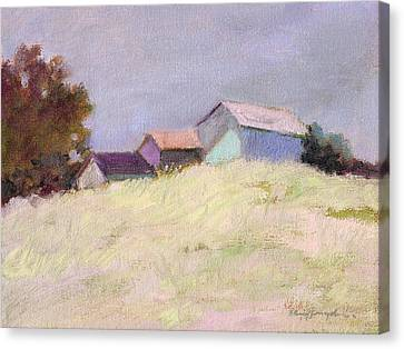 Hilltop Barns Canvas Print