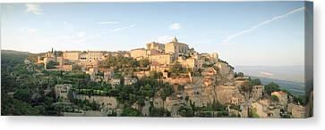 Hilltop Village, Gordes, Vaucluse Canvas Print by Panoramic Images
