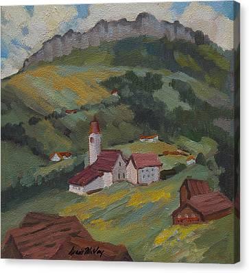 Hilltop Village Switzerland Canvas Print