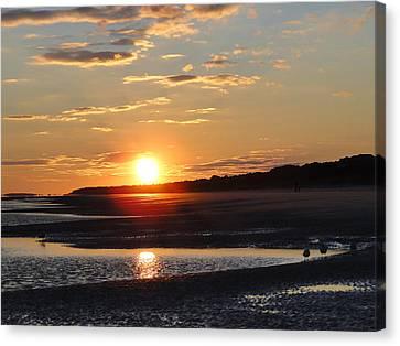 Hilton Head Sunset Canvas Print by Cindy Croal