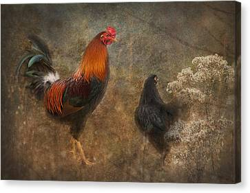 Him And His Chick Canvas Print