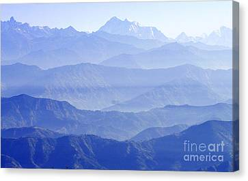 Canvas Print featuring the photograph Hima-layers by Jacqi Elmslie