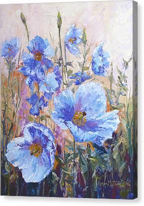 Himalayan Blue Poppies Canvas Print by Karen Mattson