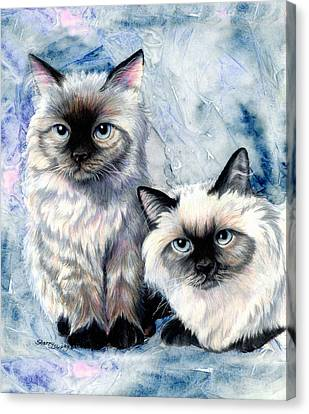 Himalayan Duo Canvas Print by Sherry Shipley