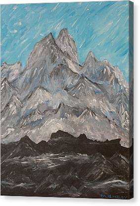Himalayas Canvas Print by Martin Blakeley