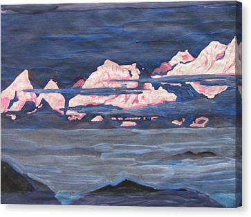 Canvas Print featuring the painting Himalayas Of India by Vikram Singh