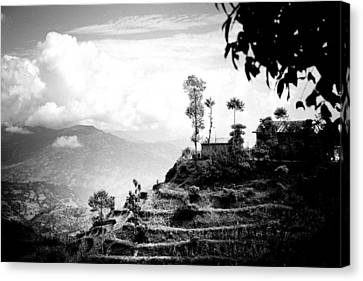 Clouds Canvas Print - Himalayas Terrace Raimond Klavins Fotografika.lv Silhouette by Raimond Klavins