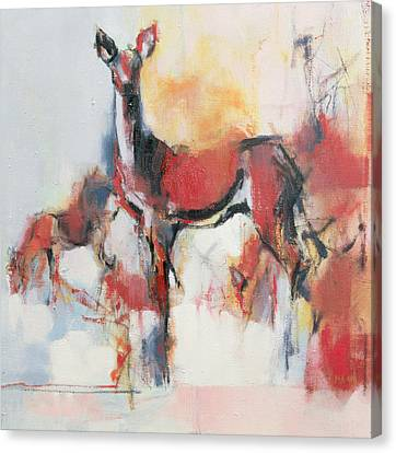 Loose Style Canvas Print - Hinds In Winter by Mark Adlington