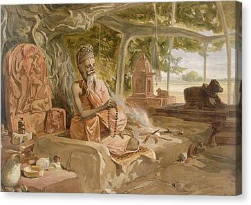 Hindu Fakir, From India Ancient Canvas Print by William 'Crimea' Simpson