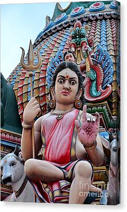 Hindu Goddess At Colorful Temple Canvas Print by Imran Ahmed