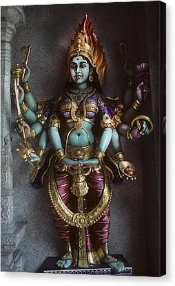 Hindu Goddess Bhairavi Canvas Print by Carl Purcell