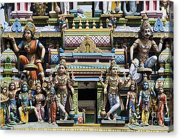 Parvati Canvas Print - Hindu Temple Gopuram Statues by Tim Gainey