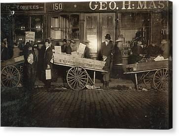Hine Tomato Vendor, 1909 Canvas Print