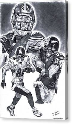 Steelers Canvas Print - Hines Ward by Jonathan Tooley