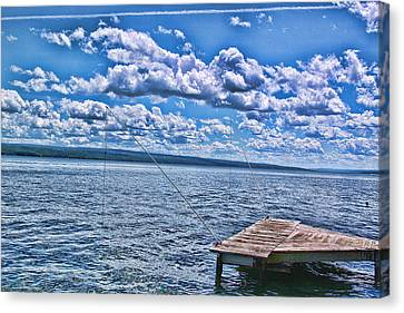 Hint Of Fall In The Clouds Canvas Print