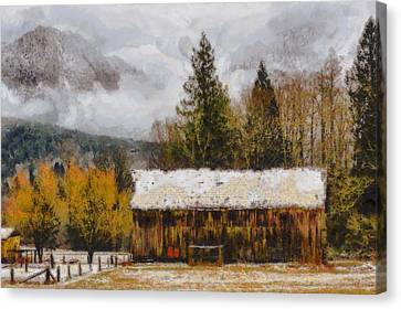 Hint Of Winter Canvas Print by Mark Kiver
