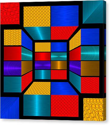 Hip To Be Square - For Metallic Paper Canvas Print by Wendy J St Christopher