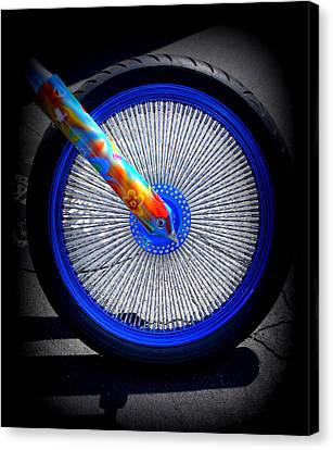 Canvas Print featuring the photograph Hippie Bike by Laurie Perry