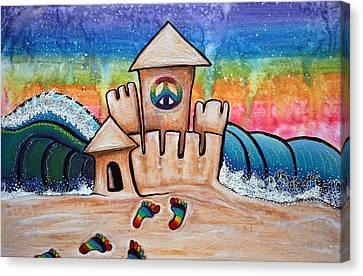 Hippie Sand Castle Canvas Print by Laura Barbosa