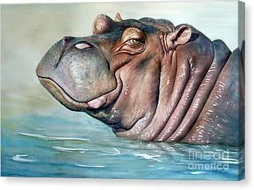 Hippo Lisa Canvas Print by Joey Nash