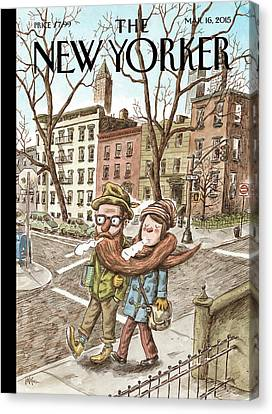 Dates Canvas Print - Hipster Stole by Ricardo Liniers