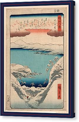 Hira No Bosetsu, Evening Snow At Hira. 1857 Canvas Print by Utagawa Hiroshige Also And? Hiroshige (1797-1858), Japanese