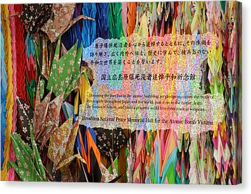 Canvas Print featuring the photograph Hiroshima's Promise by Cassandra Buckley