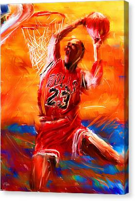 Dunk Canvas Print - His Airness by Lourry Legarde
