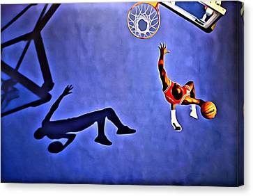 His Airness Michael Jordan Canvas Print by Florian Rodarte