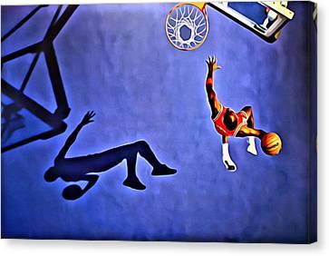 Jordan Canvas Print - His Airness Michael Jordan by Florian Rodarte