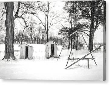 His And Hers - Charcoal  Canvas Print by Chris Bordeleau