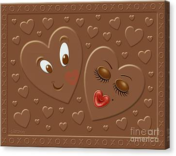 His And Hersheys Canvas Print by Cristophers Dream Artistry
