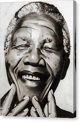 His Excellency Nelson Mandela Canvas Print