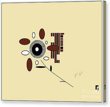 Canvas Print featuring the digital art His First Flower by Ann Calvo