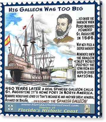 Florida Bridge Canvas Print - His Galleon Was Too Big by Warren Clark