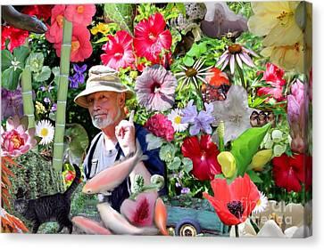 His Garden Canvas Print by Erica Hanel