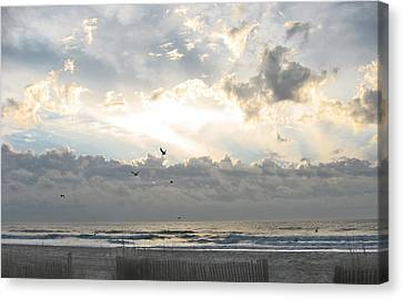 His Glory Shines Canvas Print by Judith Morris
