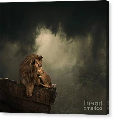 His Kingdom Canvas Print by Lynn Jackson
