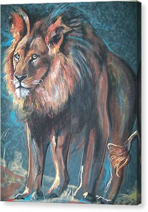 Canvas Print featuring the pastel His Majesty by Peter Suhocke