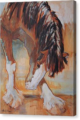 Draft Horse Canvas Print - His Majesty's Nose Itches by Tracie Thompson