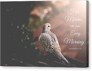 His Mercies Are New Canvas Print by Trina  Ansel