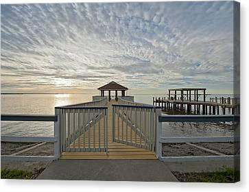 Vermilion Bay Sunrise Canvas Print - His Mercies Begin Fresh Each Morning by Bonnie Barry
