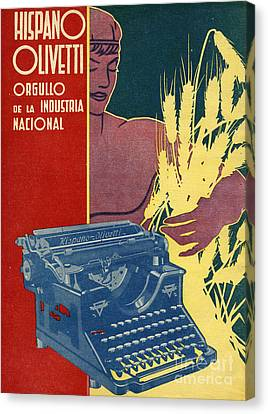 Hispano Olivetti 1936 1930s Spain Cc Canvas Print by The Advertising Archives