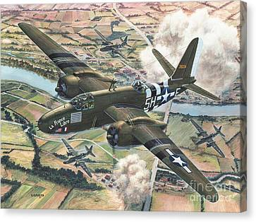 Historic A-20 Havoc Canvas Print by Stu Shepherd