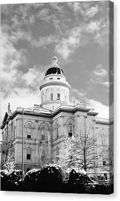 Canvas Print featuring the photograph Historic Auburn Courthouse 8 by Sherri Meyer